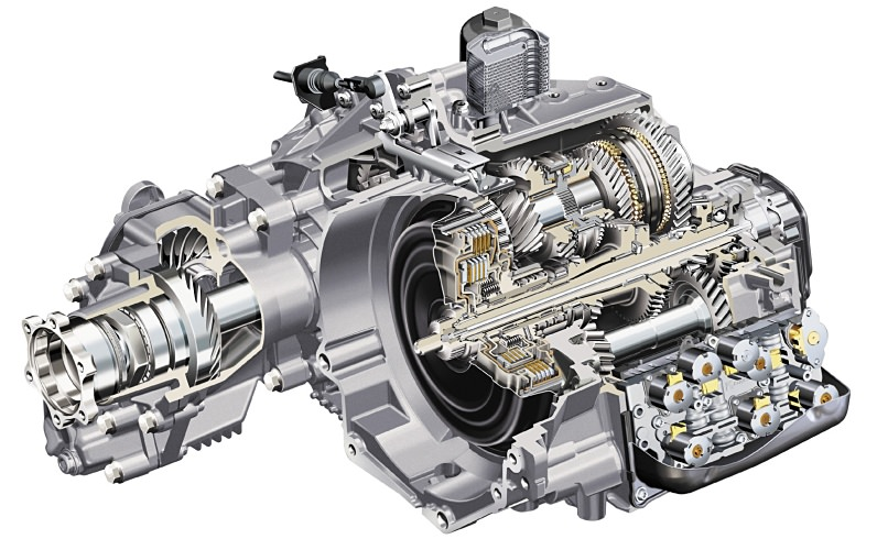 Figure 2: DSG Transmission as fitted to the Audi TT 3.2 V6 Quattro, 4WD version