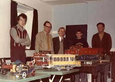 Pictured at our second meeting on 16th October 1976 are (L-R) Peter Clay, Geoff Davison, Adrian Ashford, Richard Greenshields and Charles Yearsley