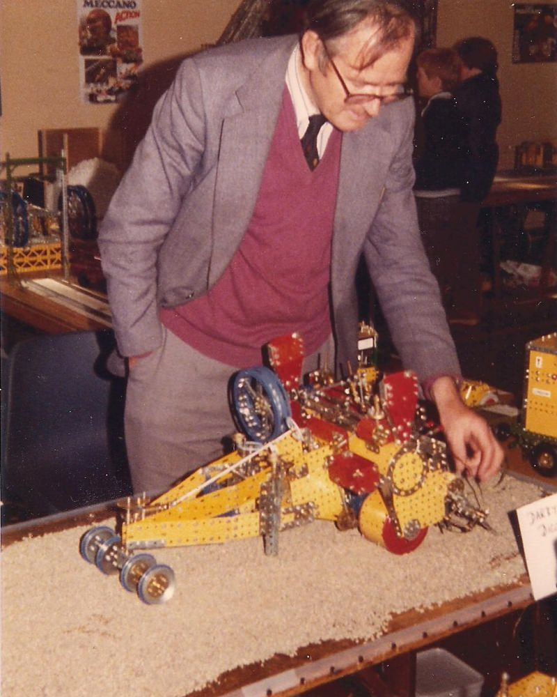 David Whitmore with his Darby-Savage digging machine at our first exhibition on 29th September 1979