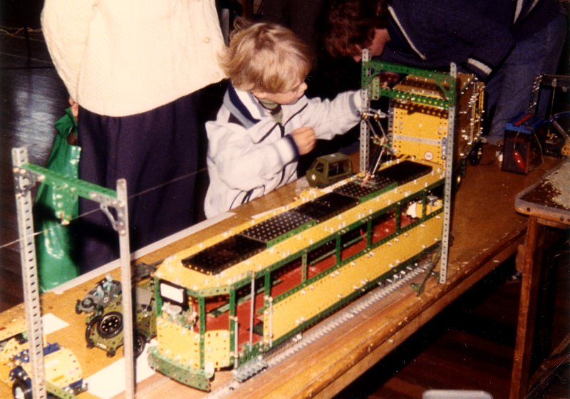 Geoff Davison's tramcar at our first exhibition on 29th September 1979