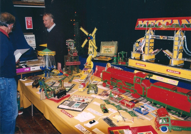 Frank Paine and his display at our 25th exhibition in October 2003 at Bromley Scout Hall