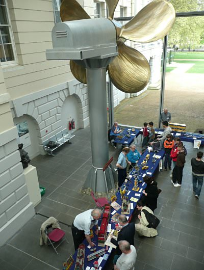 A general view of our stand at the National Maritime Museum's 1930s Festival on 1st May 2010