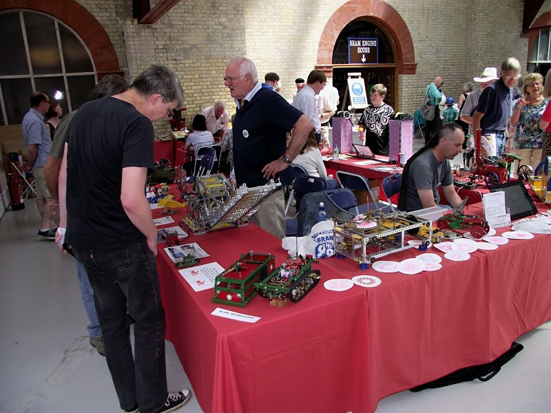 Alan Wenbourne (standing) at the Crossness Engines Model Engineering Day on 22nd June 2014