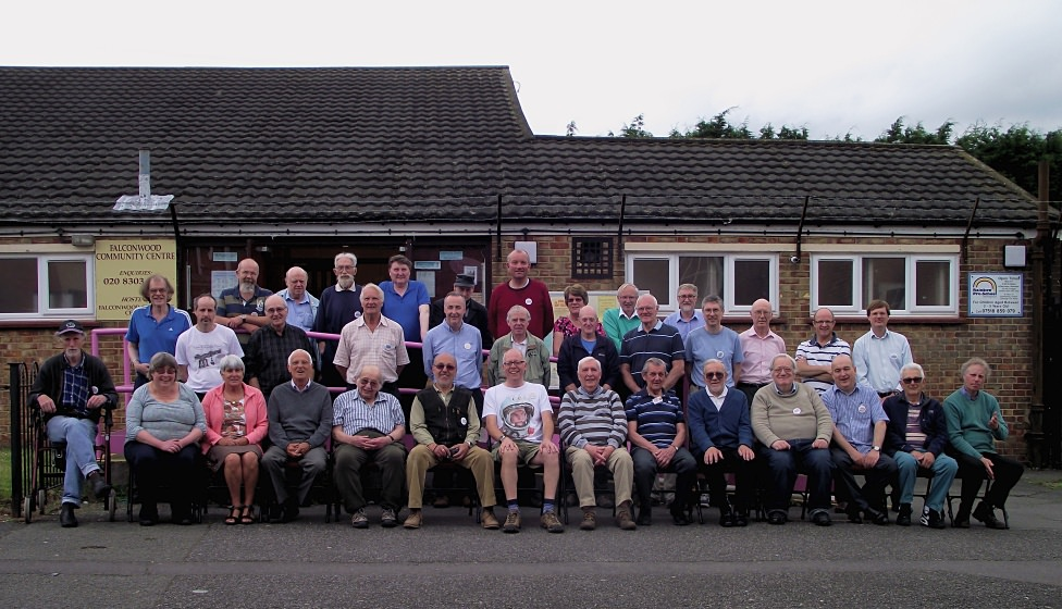Our members outside Falconwood Community Centre, taken at our 40th anniversary meeting on 18th June 2016