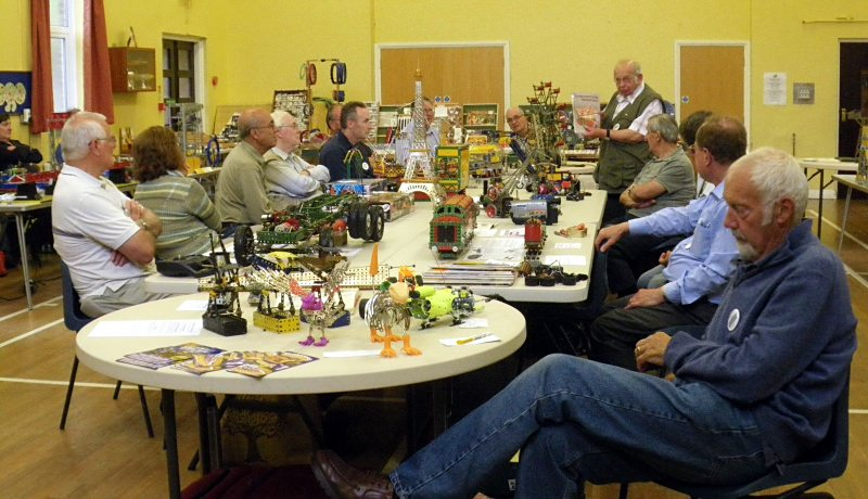 Douglas Windibank (standing) describes one of his models at our seated model tour on 23rd June 2012