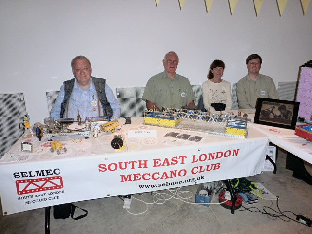 Our stand at the Cultural Pursuits event at the Gerald Moore Gallery on 14 July 2012. L–R: Peter Clay, Alan Wenbourne, Felicity Surtell, Tim Surtell