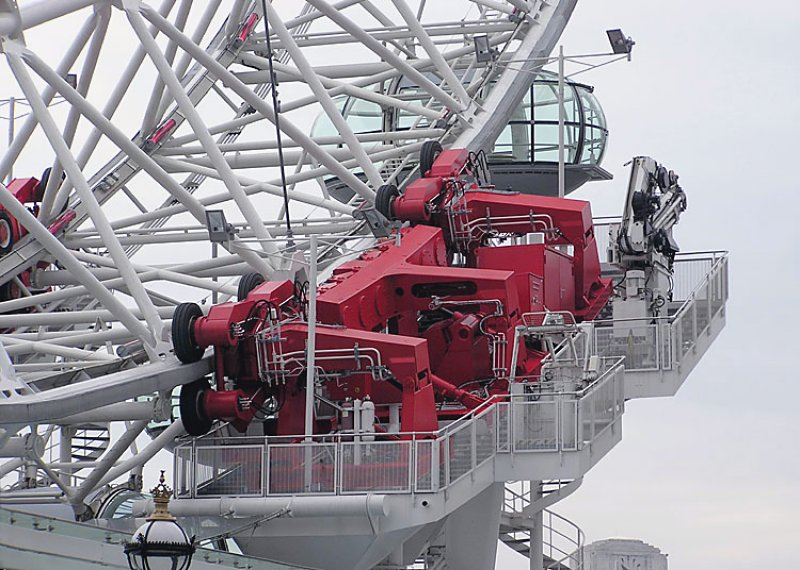 Figure 9: The London Eye drive machinery deck located at the north-east corner of the wheel