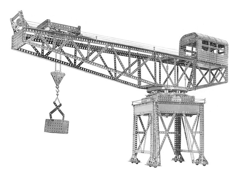 This fine Block Setting Crane would normally require at least three motors with six wires needing to pass into the rotating superstructure without binding. With DCC multiple motors can be controlled via just one wire!