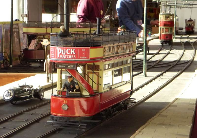 Some trams on show at Modelworld