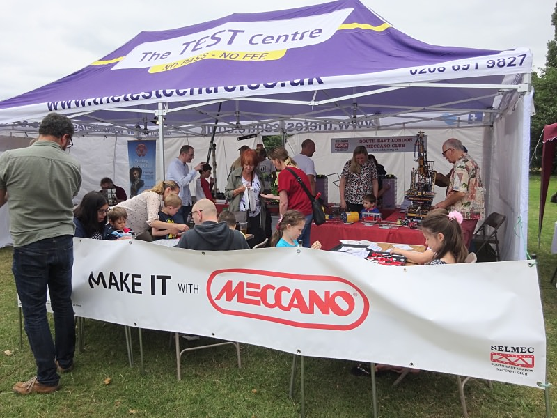 An overview of our marquee and the Make It With Meccano workshop