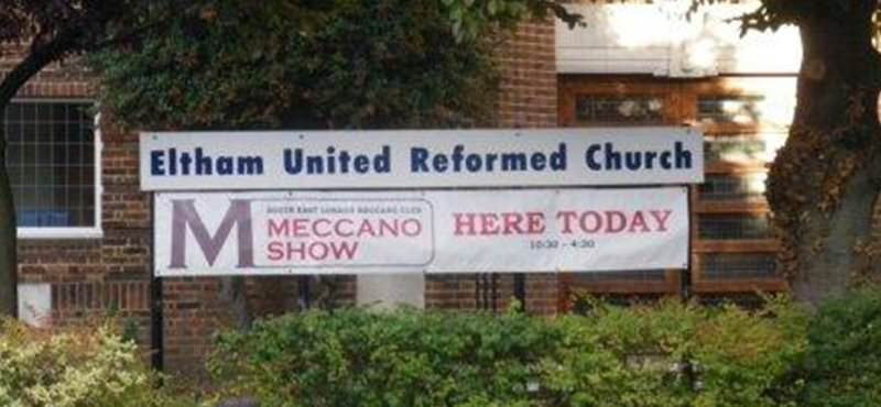 Our new banner outside Eltham URC