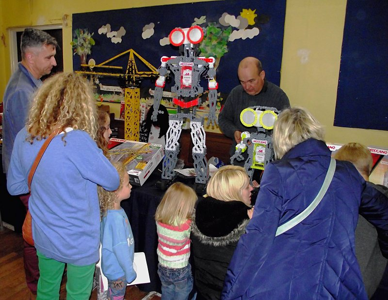 Ralph Laughton manning the Meccano stand