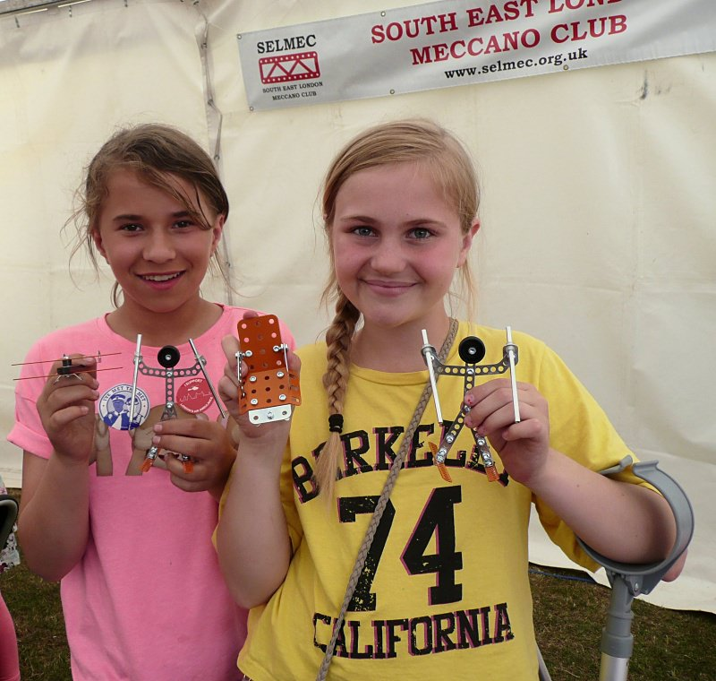 These girls had fun building all four of the Make It With Meccano models
