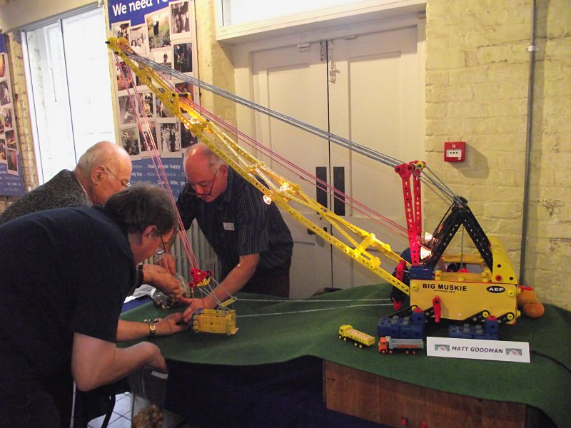 Plastic Meccano dragline by Matt Goodman