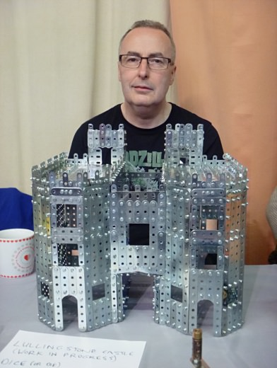 Brian with his model of Lullingstone Castle gatehouse